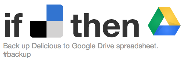 IFTTT - Delicious to Gogole Drive