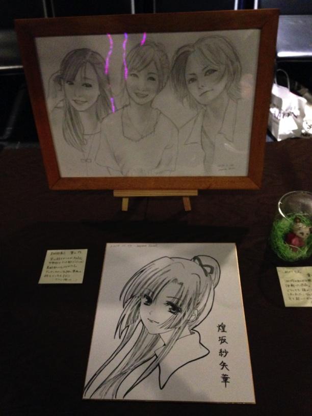 葉山いくみさんが書いた3人の肖像画