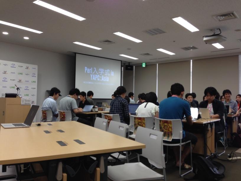 Perl入学式 in YAPC開始前の様子