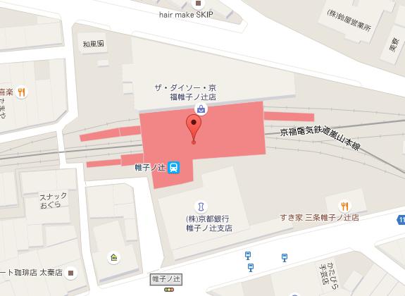 帷子ノ辻駅周辺地図